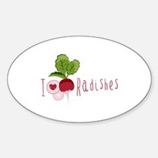 I Love Radishes Decal