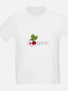 I Love Radishes T-Shirt