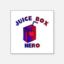 "Juice Box Hero Square Sticker 3"" x 3"""