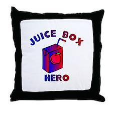 Juice Box Hero Throw Pillow