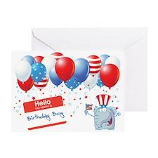 4th of JULY BIRTHDAY BOY Greeting Card