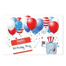 4th of JULY BIRTHDAY BOY Postcards (Package of 8)