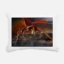 Dragon Attack Rectangular Canvas Pillow