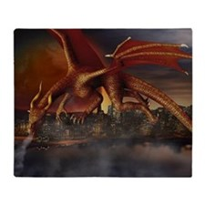 Dragon Attack Throw Blanket