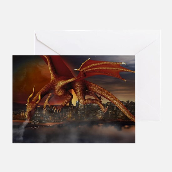 Dragon Attack Greeting Cards