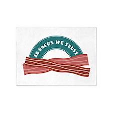 In Bacon We Trust 5'x7'Area Rug