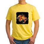 Stargazer Lily Yellow T-Shirt