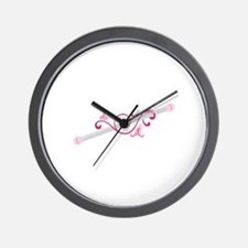Cheerleader Baton Wall Clock