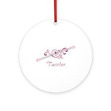 Twirler Baton Ornament (Round)