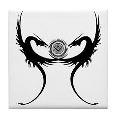Masonic Dragons Guarding the S&C Tile Coaster