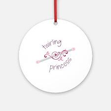 Twirling Princess Baton Ornament (Round)