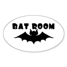 Oval Bat Room Decal