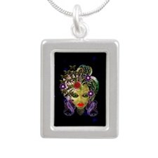 Witchy Mystic Silver Portrait Necklace