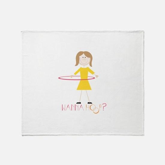Wanna Hoop Throw Blanket