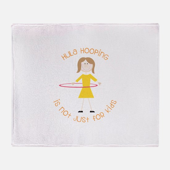 Hula Hooping Throw Blanket