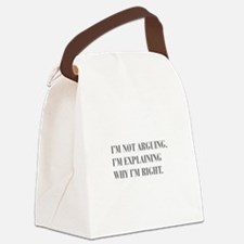 IM-NOT-ARGUING-bod-gray Canvas Lunch Bag