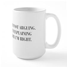 IM-NOT-ARGUING-bod-gray Mugs
