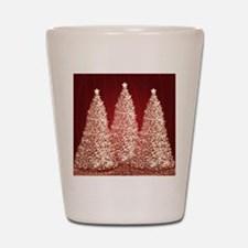 Gold Christmas Trees Shot Glass