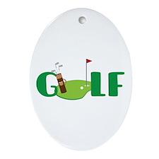 GOLF CLUBS Ornament (Oval)