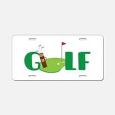 GOLF CLUBS Aluminum License Plate