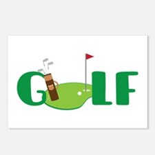 GOLF CLUBS Postcards (Package of 8)