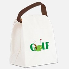 GOLF CLUBS Canvas Lunch Bag