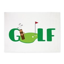 GOLF CLUBS 5'x7'Area Rug