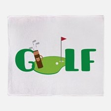 GOLF CLUBS Throw Blanket