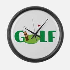 GOLF CLUBS Large Wall Clock
