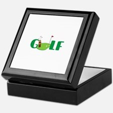 GOLF CLUBS Keepsake Box