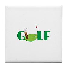 GOLF CLUBS Tile Coaster