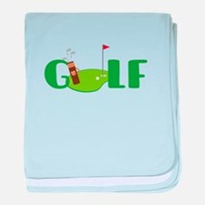 GOLF CLUBS baby blanket