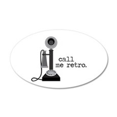 Call Me Retro Wall Decal