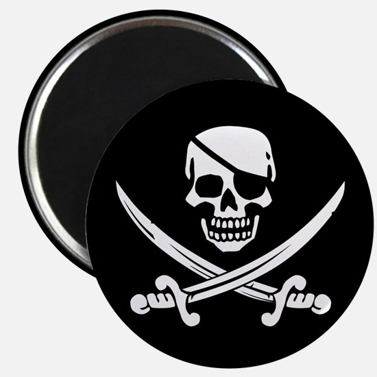 Eyepatch Skull & Crossed Swords Magnet