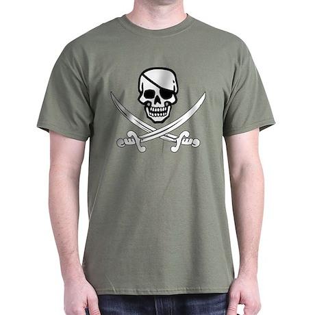Eyepatch Skull & Crossed Swords Dark T-Shirt
