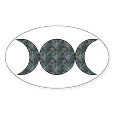 Triple Moon Oval Sticker - Brocade