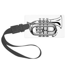 Beautiful Black and White Trumpe Luggage Tag