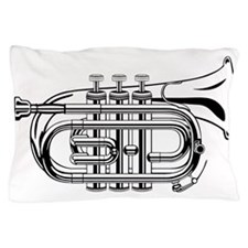 Beautiful Black and White Trumpet Pillow Case