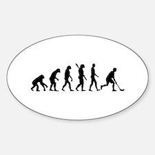 Floorball Evolution Sticker (Oval)