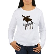 Vermont Moose Long Sleeve T-Shirt