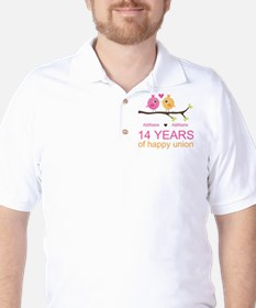 14th Anniversary Personalized T-Shirt