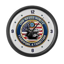 CVN-68 USS Nimitz Large Wall Clock