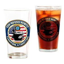 CVN-68 USS Nimitz Drinking Glass