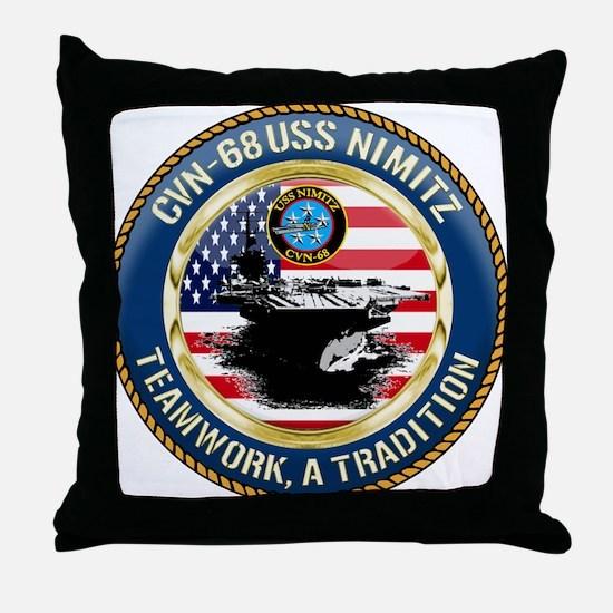 CVN-68 USS Nimitz Throw Pillow