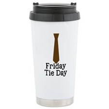 Friday Tie Day Travel Mug