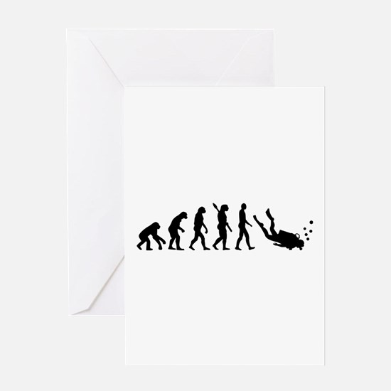 Evolution Diving Greeting Card