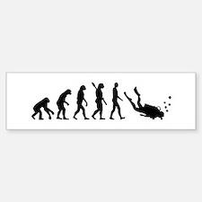 Evolution Diving Bumper Bumper Sticker
