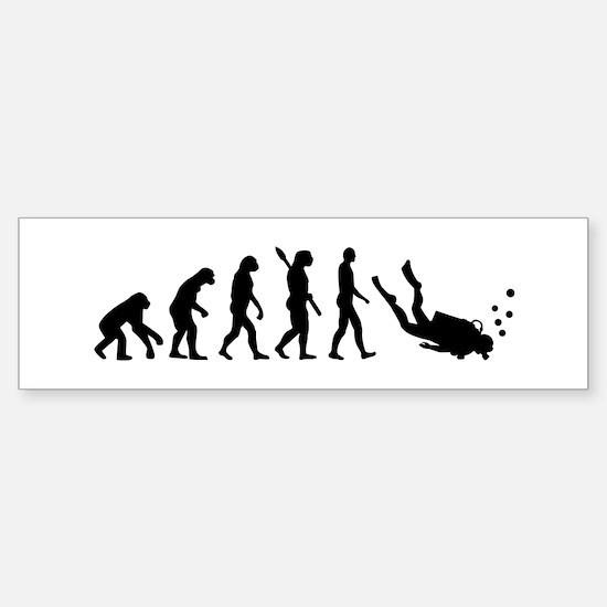 Evolution Diving Sticker (Bumper)
