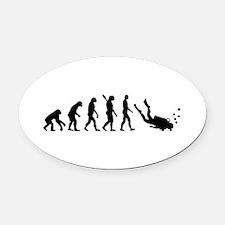 Evolution Diving Oval Car Magnet