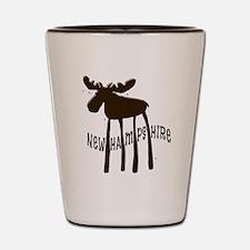 NH Chocolate Moose Shot Glass
